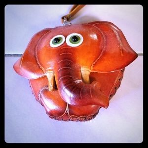 NWOT elephant coin purse
